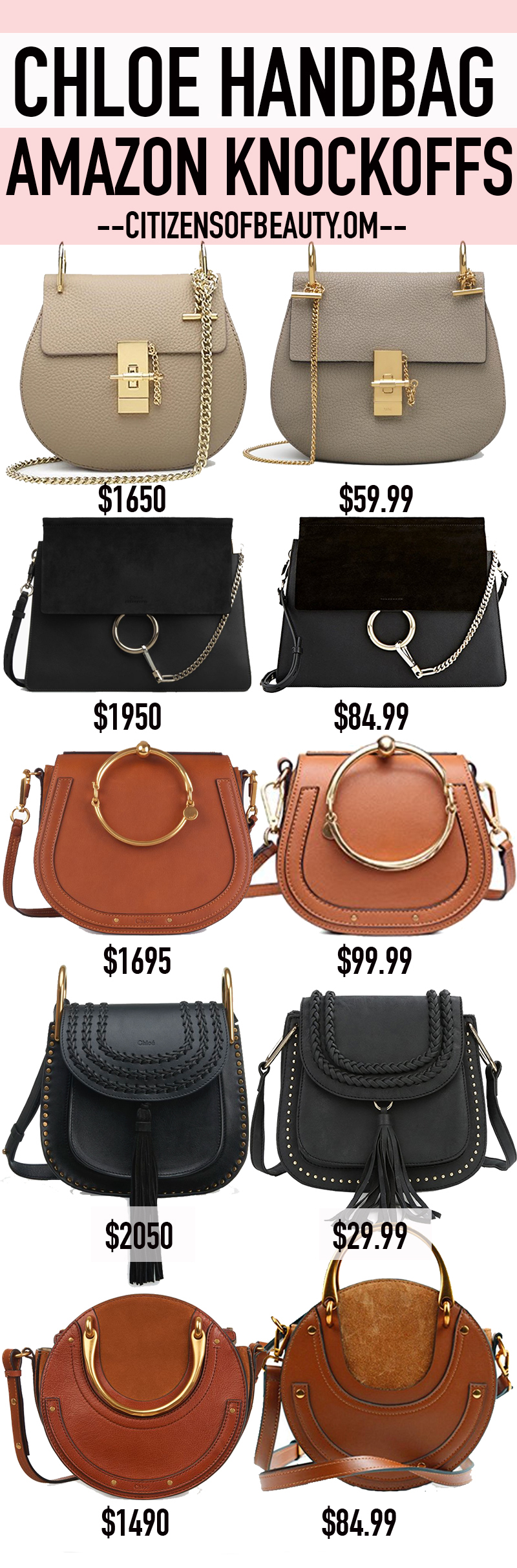 CHLOE Handbag Knockoffs that are all under $100
