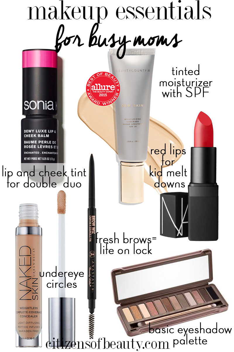 Complete makeup essentials for moms guide.