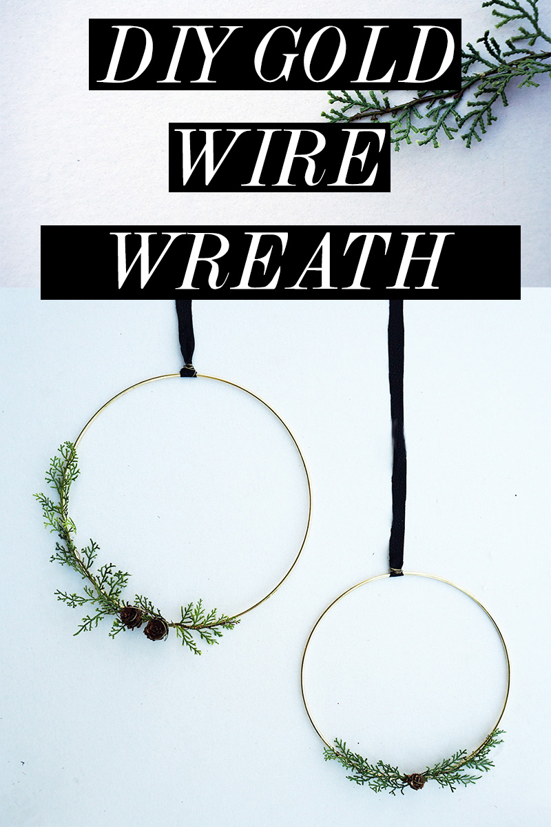 DIY Gold Wire Wreath for Christmas