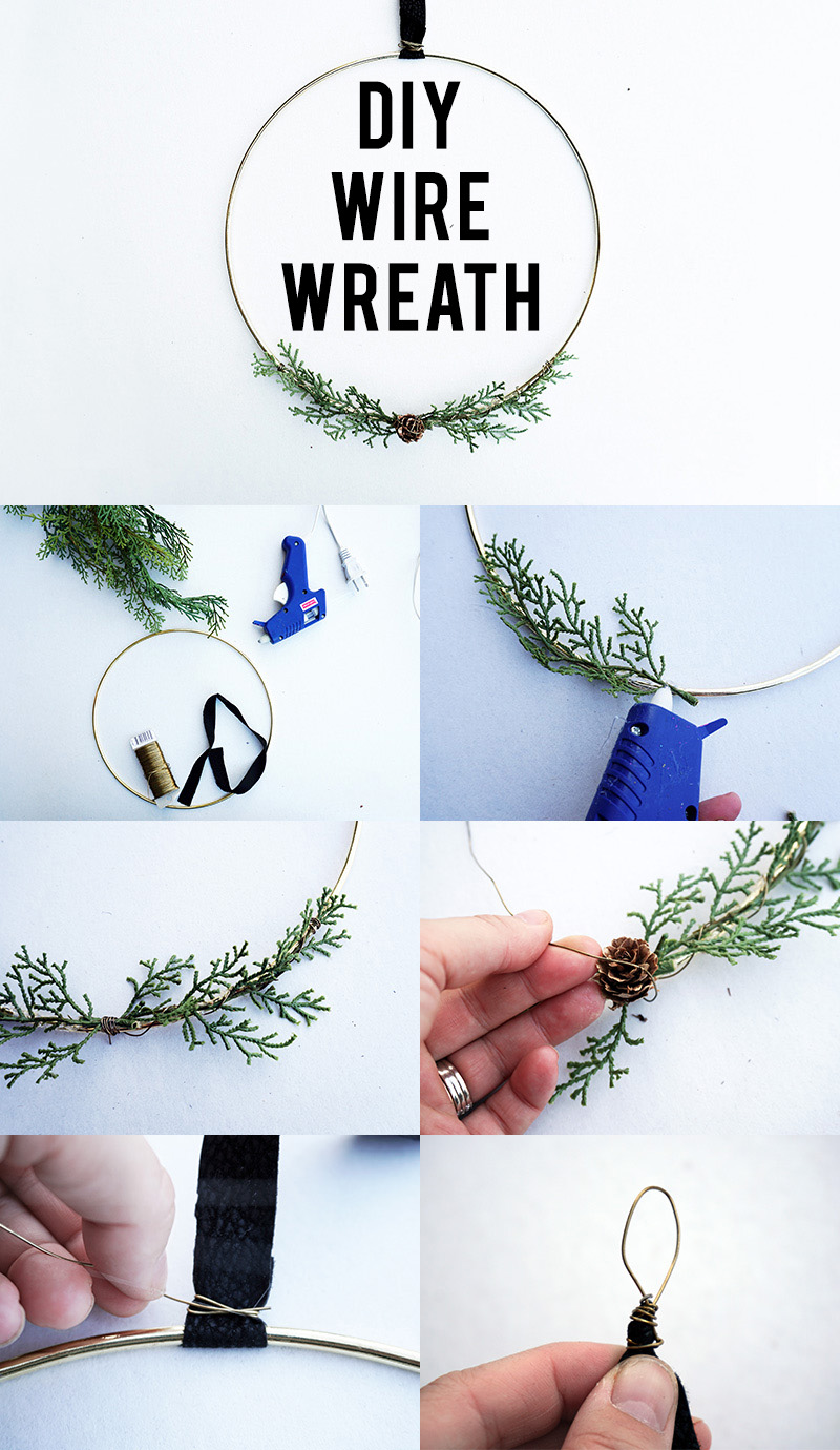 DIY Gold Wire Wreath Inspired by Chip and Joanna Gaines