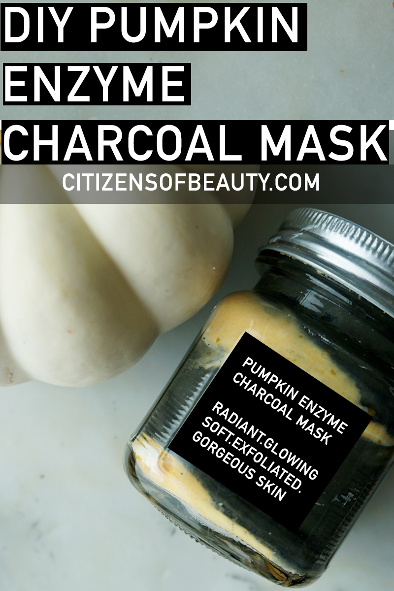 DIY Pumpkin Enzyme Charcoal Mask
