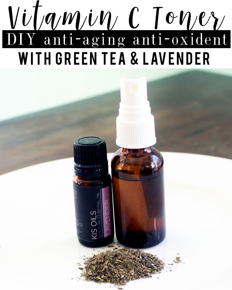 DIY Holiday Gift Idea Vitamin C toner with Green Tea for some serious anti-aging benefits with beauty and lifestyle blogger, Kendra Stanton.
