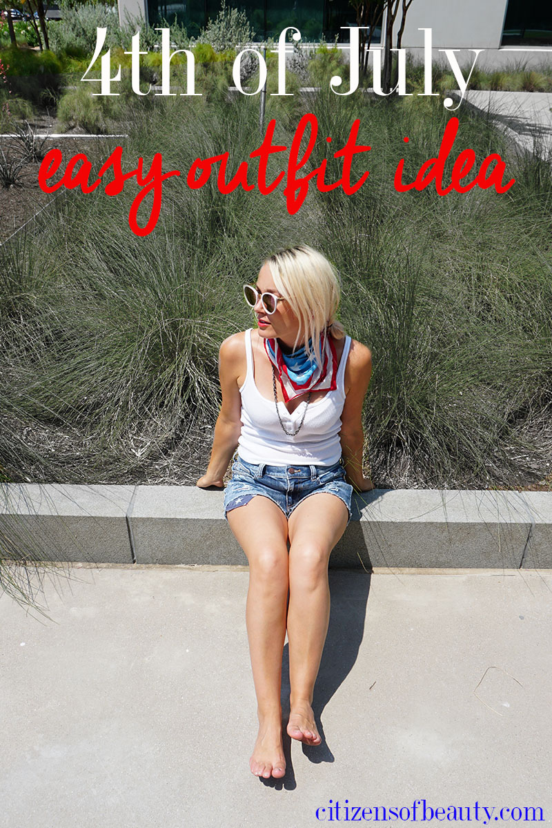 Get this easy 4th of July outfit idea for America biggest red, white, and blue holiday!