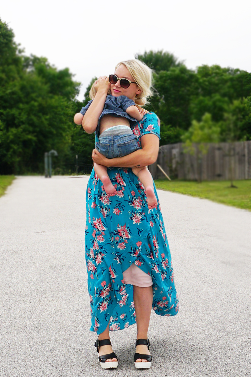 Easy Blue Boho Dress 4