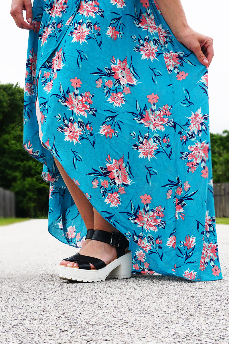 bohemian style floral dress