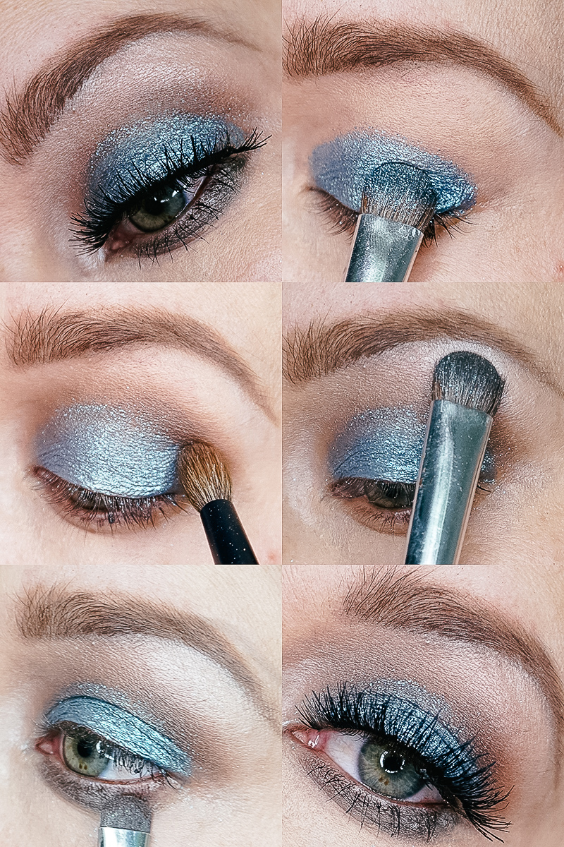 Beautycounter Holiday Eye Makeup Design using the Iconic Palette. Get this step-by-step makeup tutorial using winter blue eyeshadow with beauty and lifestyle blogger, Kendra Stanton