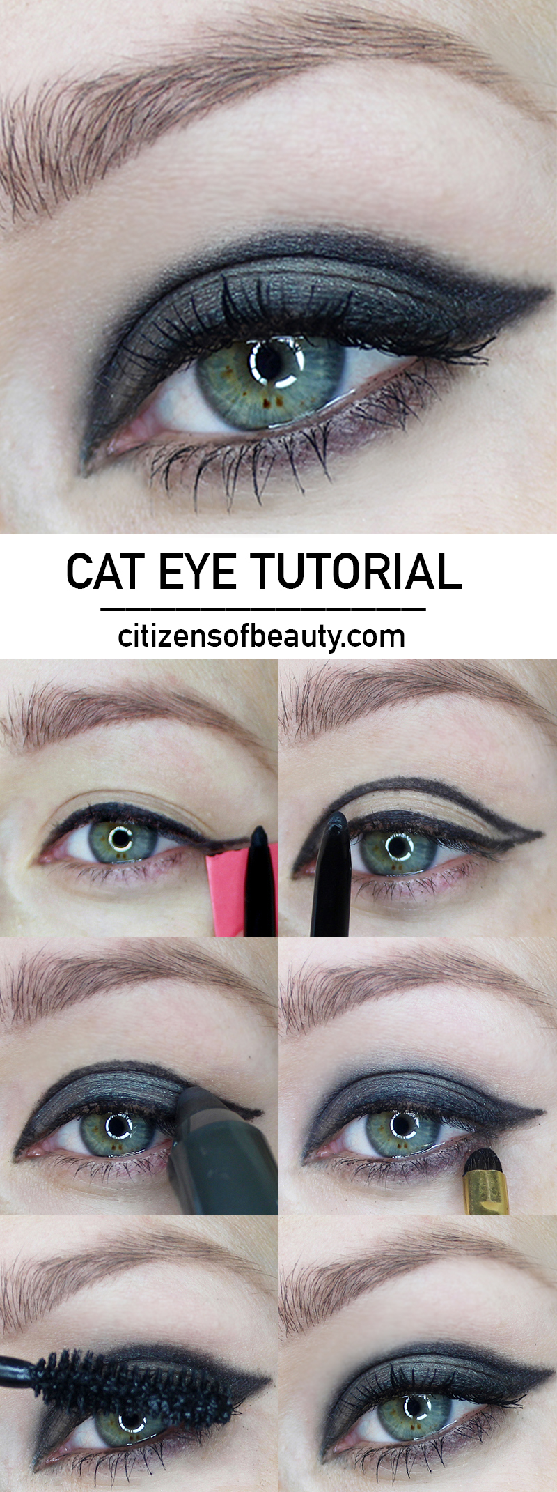 HOW TO: cat eye makeup tutorial