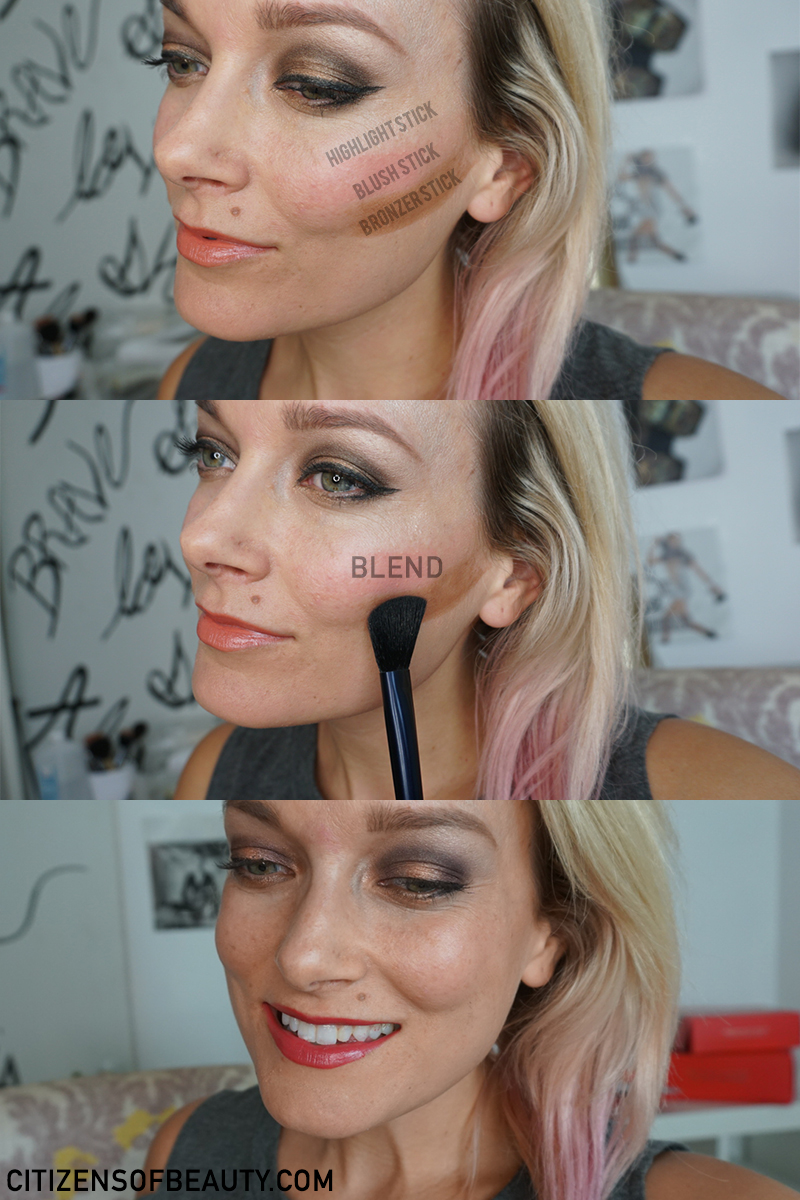 How to highlight and contour with the Beautycounter Illuminating Trio for Holiday