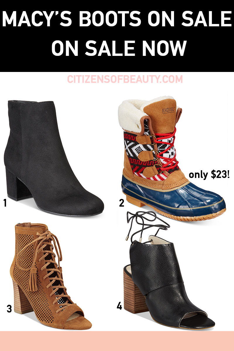 Get these Macy's Boots and Booties that are on sale right now for fall!