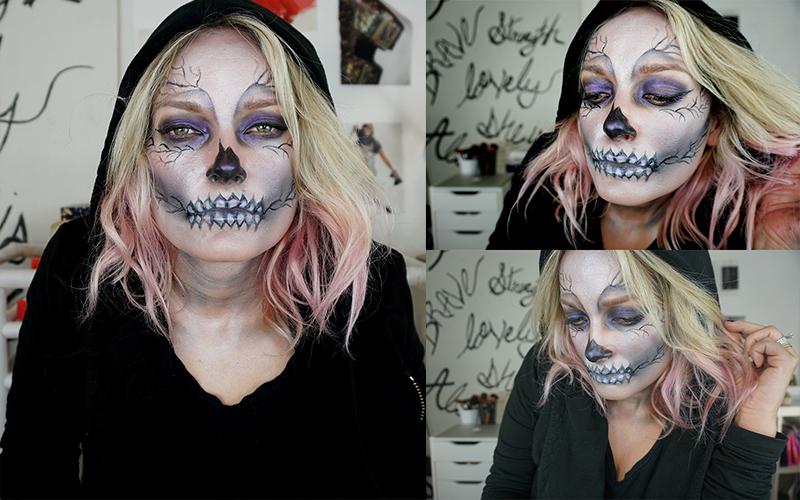 Skeleton Makeup look for haloween