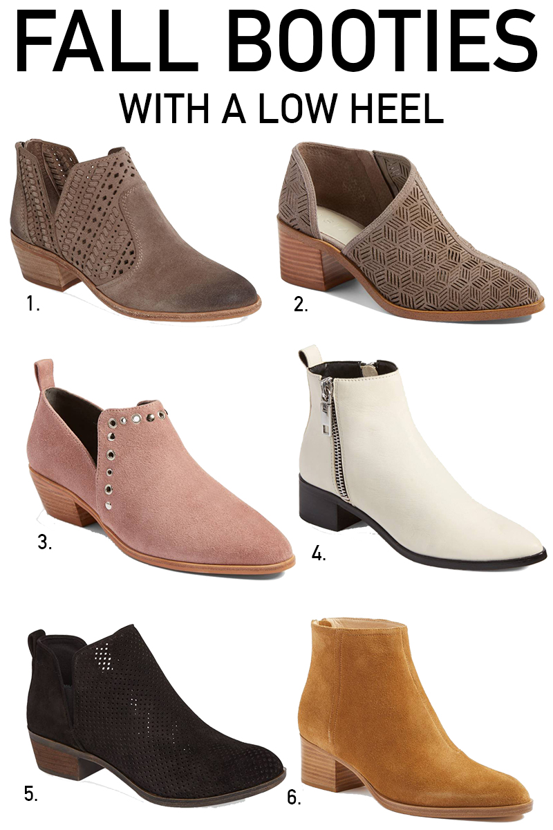 NORDSTROM ANNIVERSARY SALE 2017 FALL BOOTIES WITH A LOW HEEL