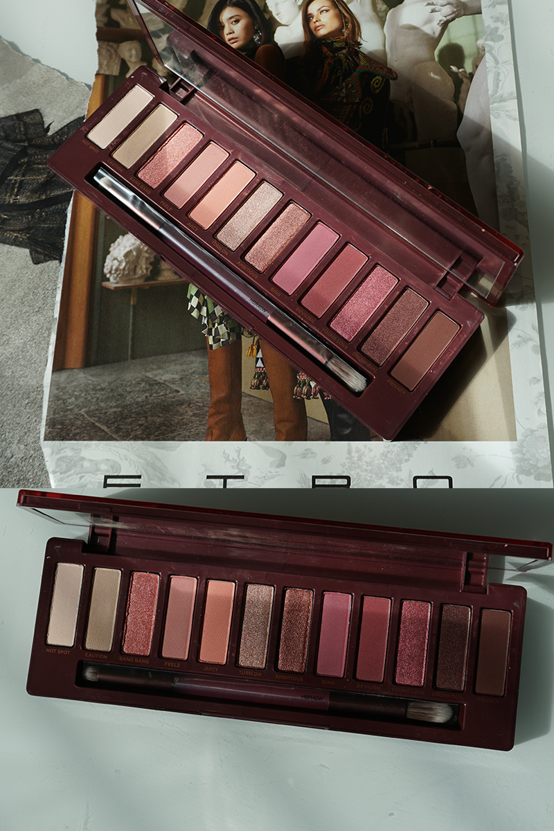 New Urban Decay Naked Cherry Eyeshadow Palette Review, swatches, and makeup look