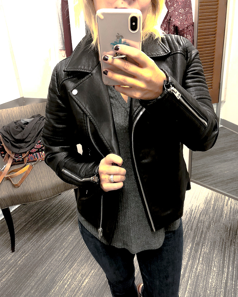 Faux Leather Jacket from Nordstrom Anniversary Sale 2018