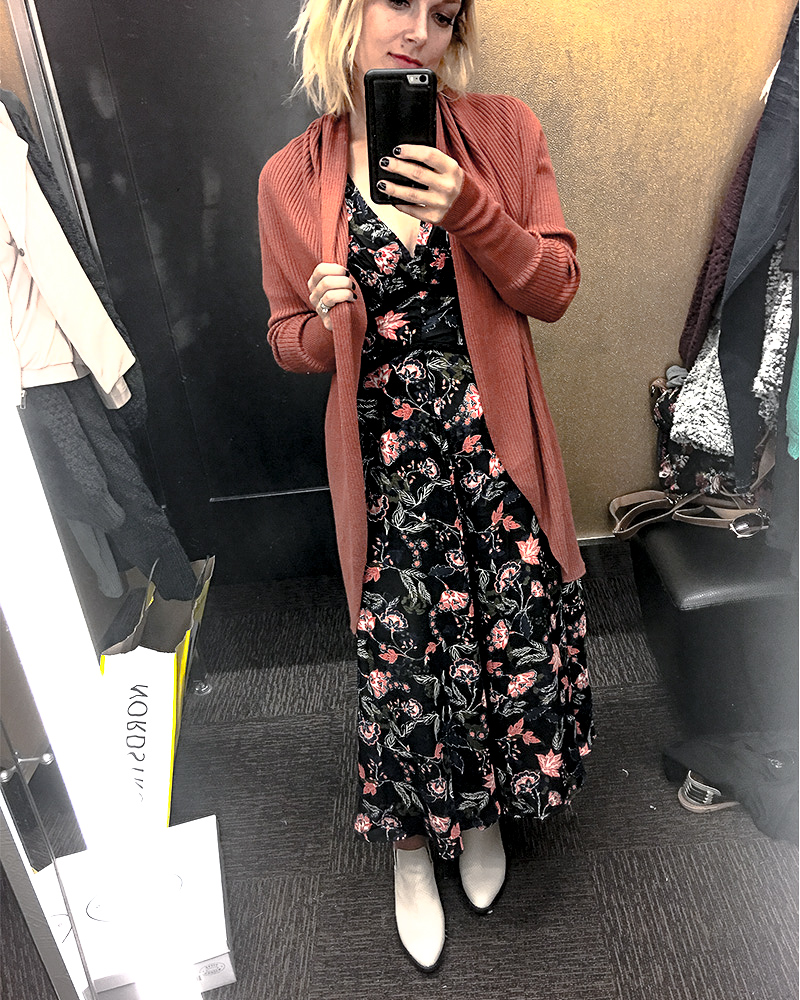Ruched Bodice Floral Midi Dress Nordstrom Anniversary Sale 2018