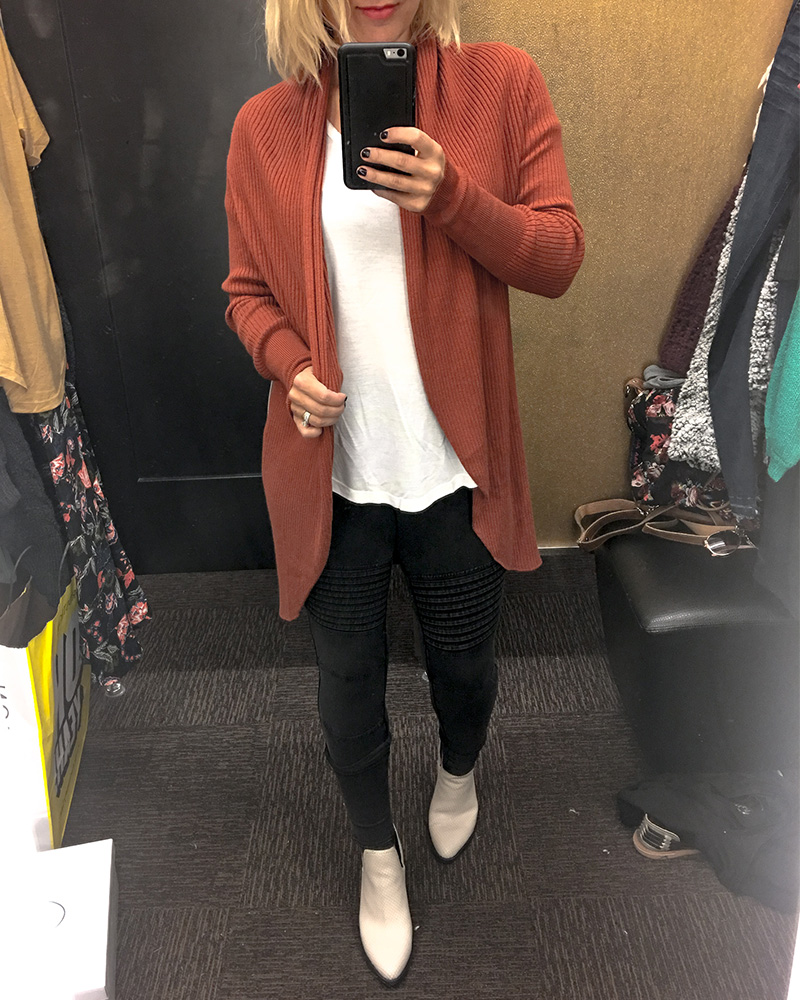 Nordstrom Half Yearly Sale 2018 Burnt Orange Cardigan