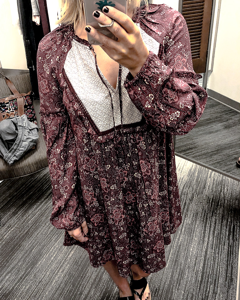 Boho dress from try on haul nordstrom anniversary sale 2018