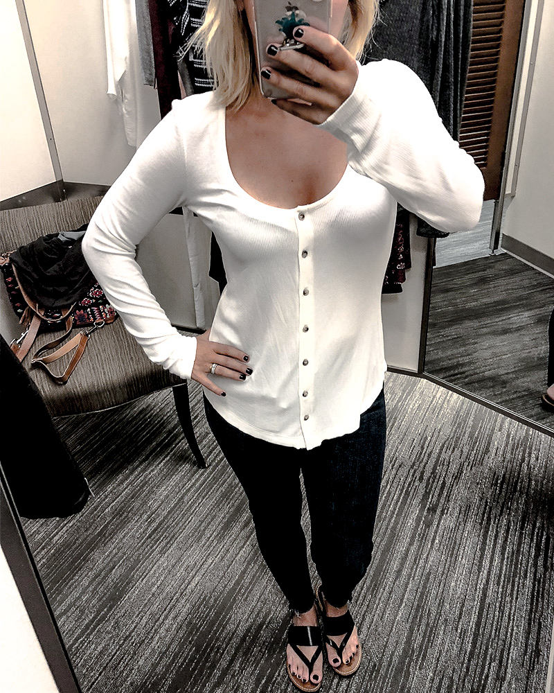 Nordstrom Anniversary Sale 2018 White Cozy Henley