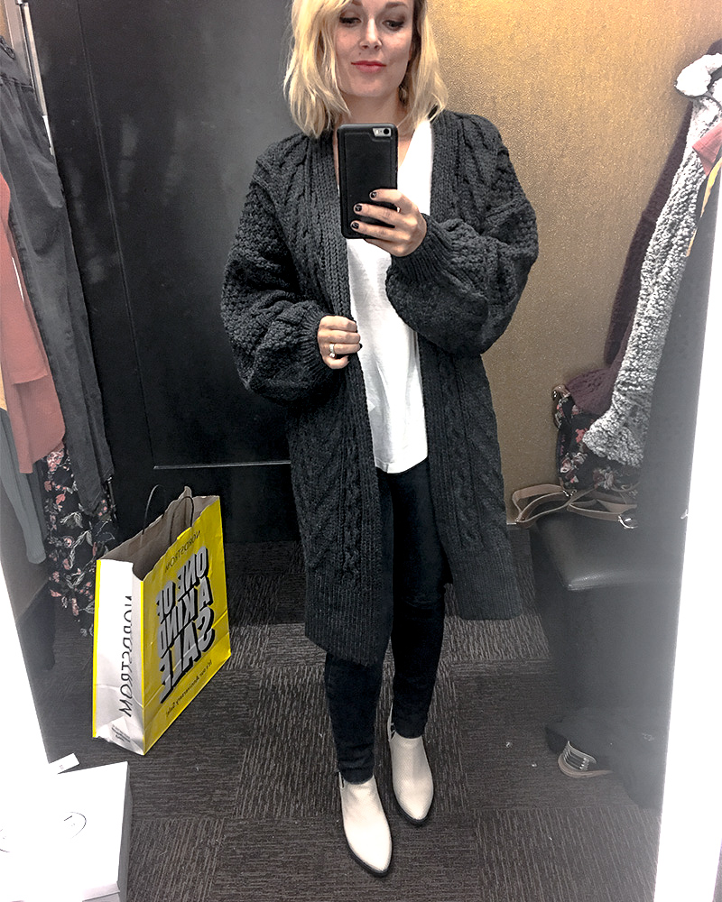 Chunky Knit Cardigan Nordstrom Half Yearly Sale