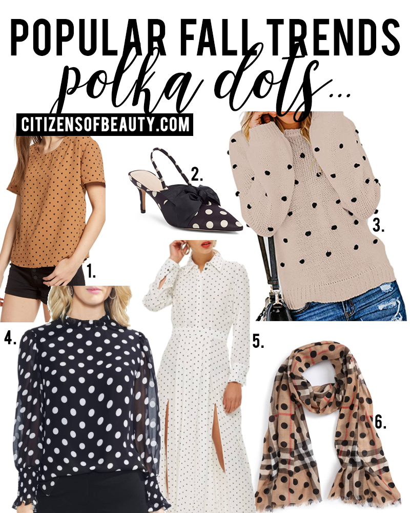 Polka Dots are a popular fall fashion trends to try for fall 2018. Check out all of the different ways to wear this trend with style blogger, Kendra Stanton