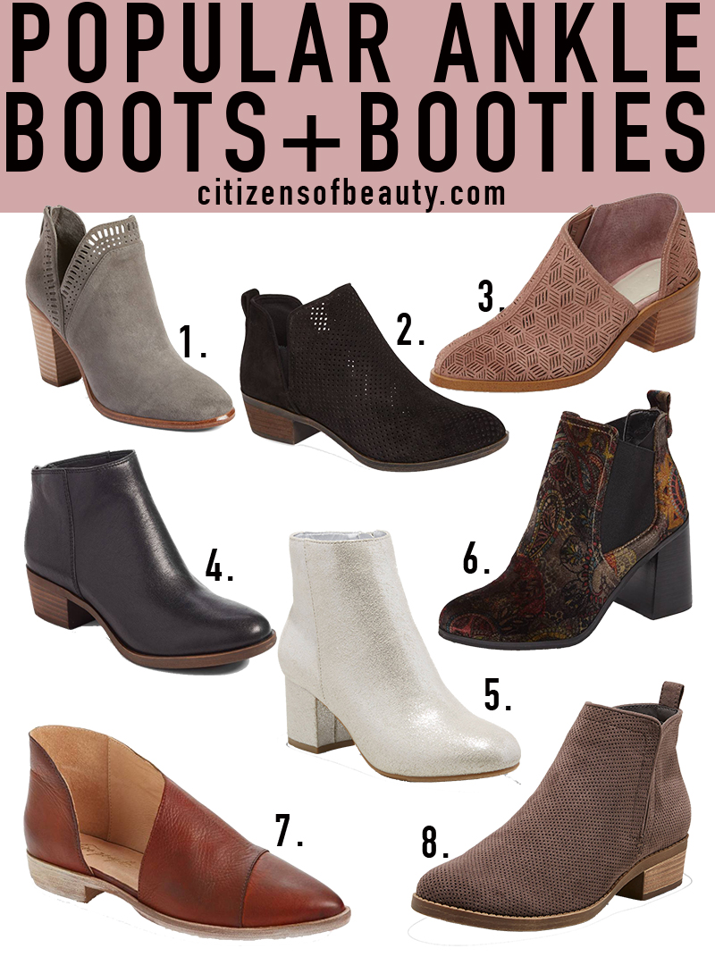 Popular Fall Ankle Boots and Booties