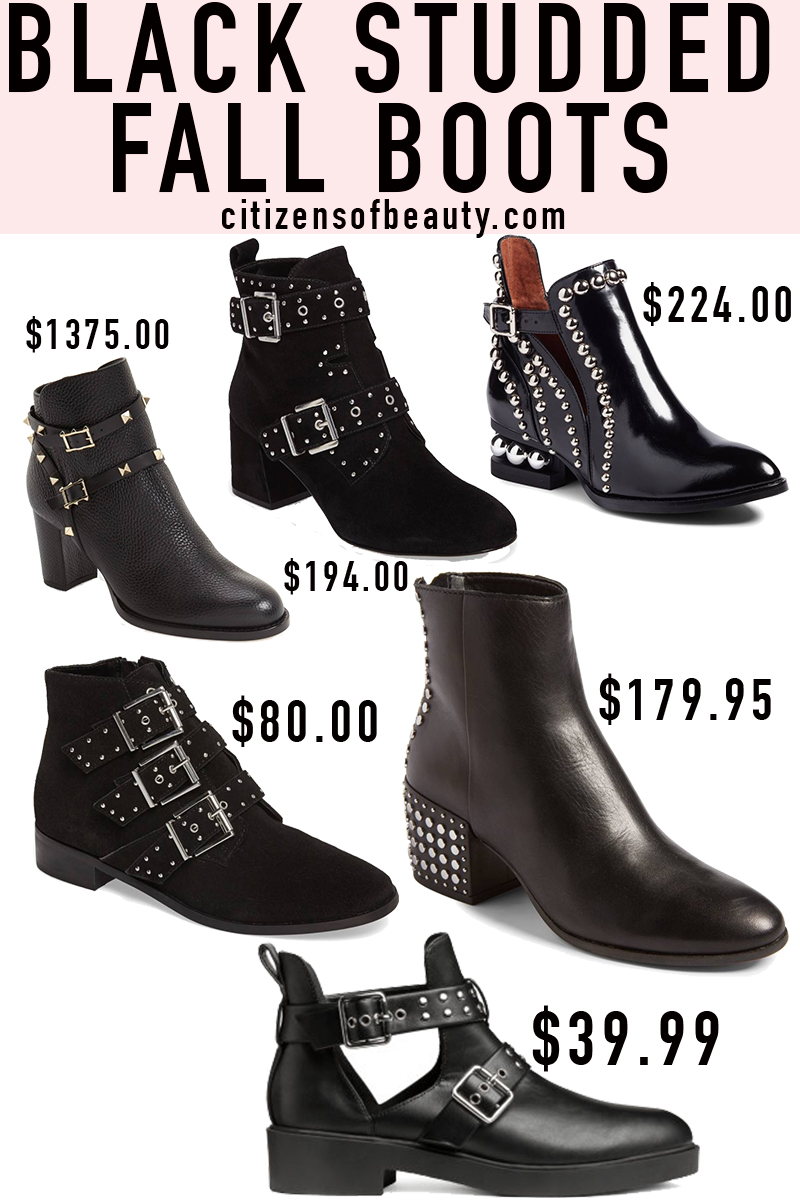 Popular black studded fall booties in every price range