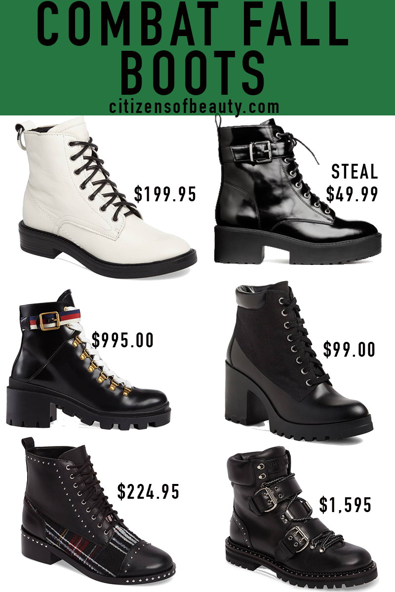 Popular combat fall booties in every price range