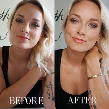 RING LIGHT BEFORE AND AFTER