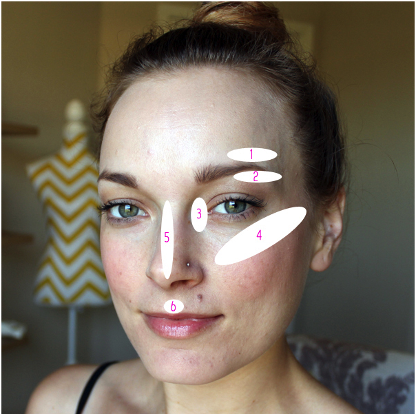 Where you should apply your highlighter to your face