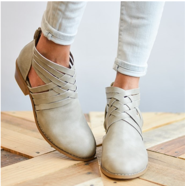 These crisscross boots drop from $79.99 to $26.99