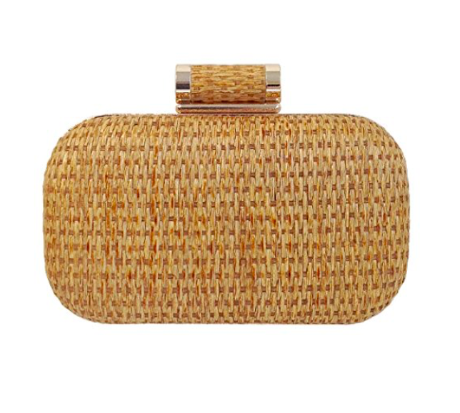 Woven straw clutch under $50 for summer