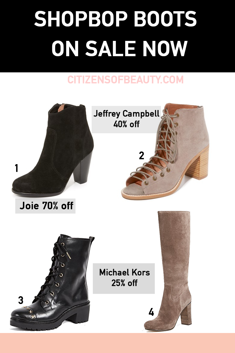 Clearence boots and booties from Shopbop for fall!