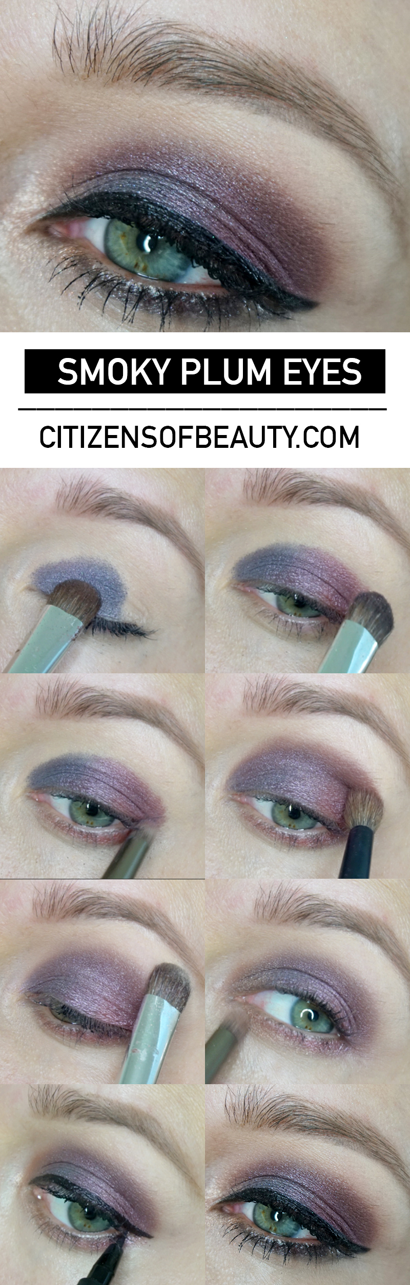 Smoky Plumb Eyeshadow look and tutorial for fall