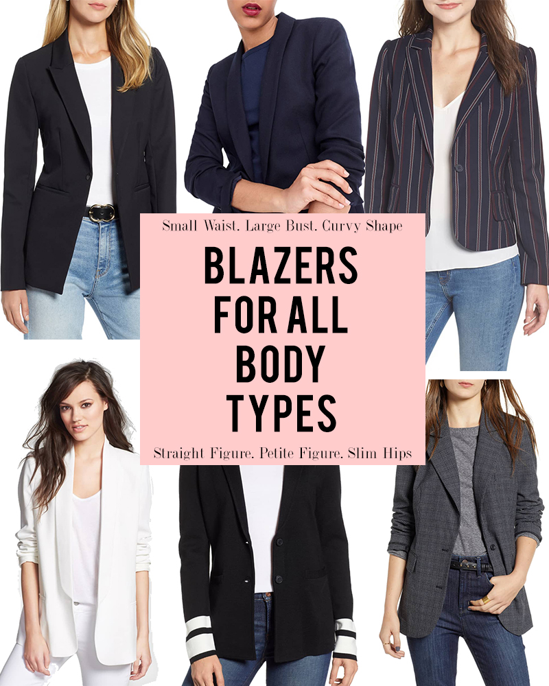 Try these Womens Blazers guide for all body shapes from large busts to petite frames and everywhere in between with style blogger, Kendra Stanton