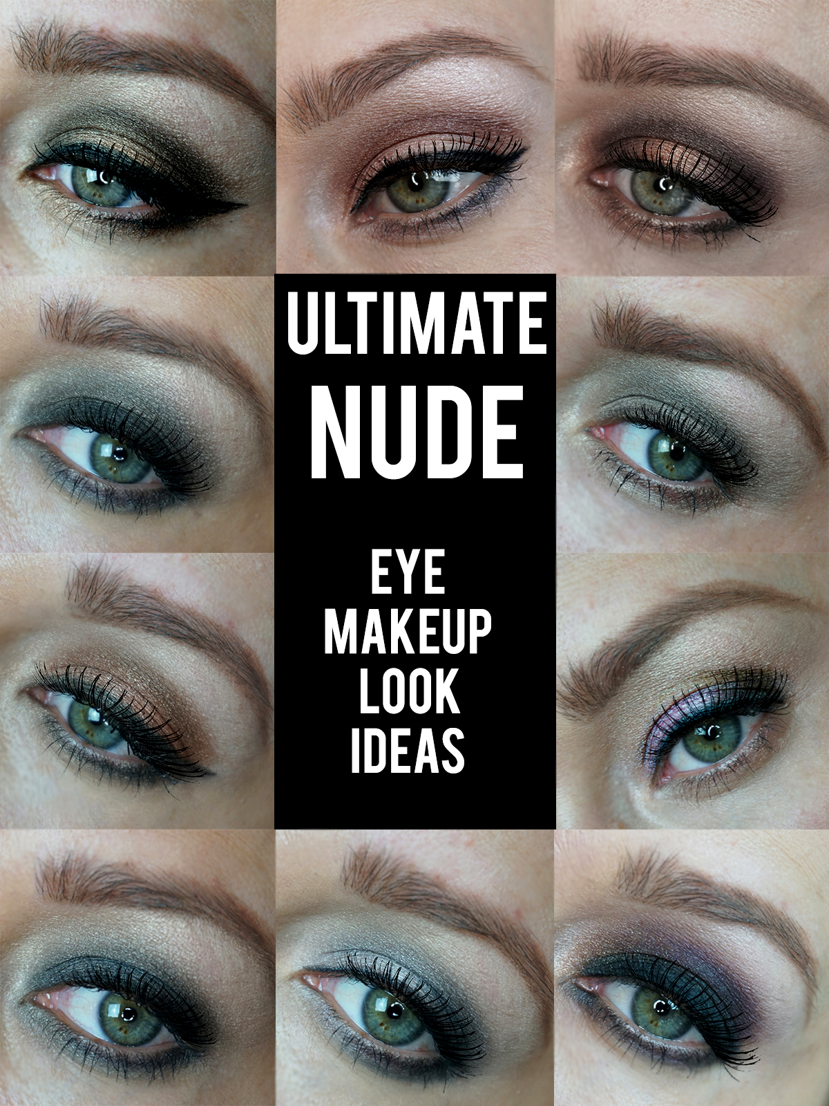 ULTIMATE NUDES EYE MAKEUP LOOK IDEAS