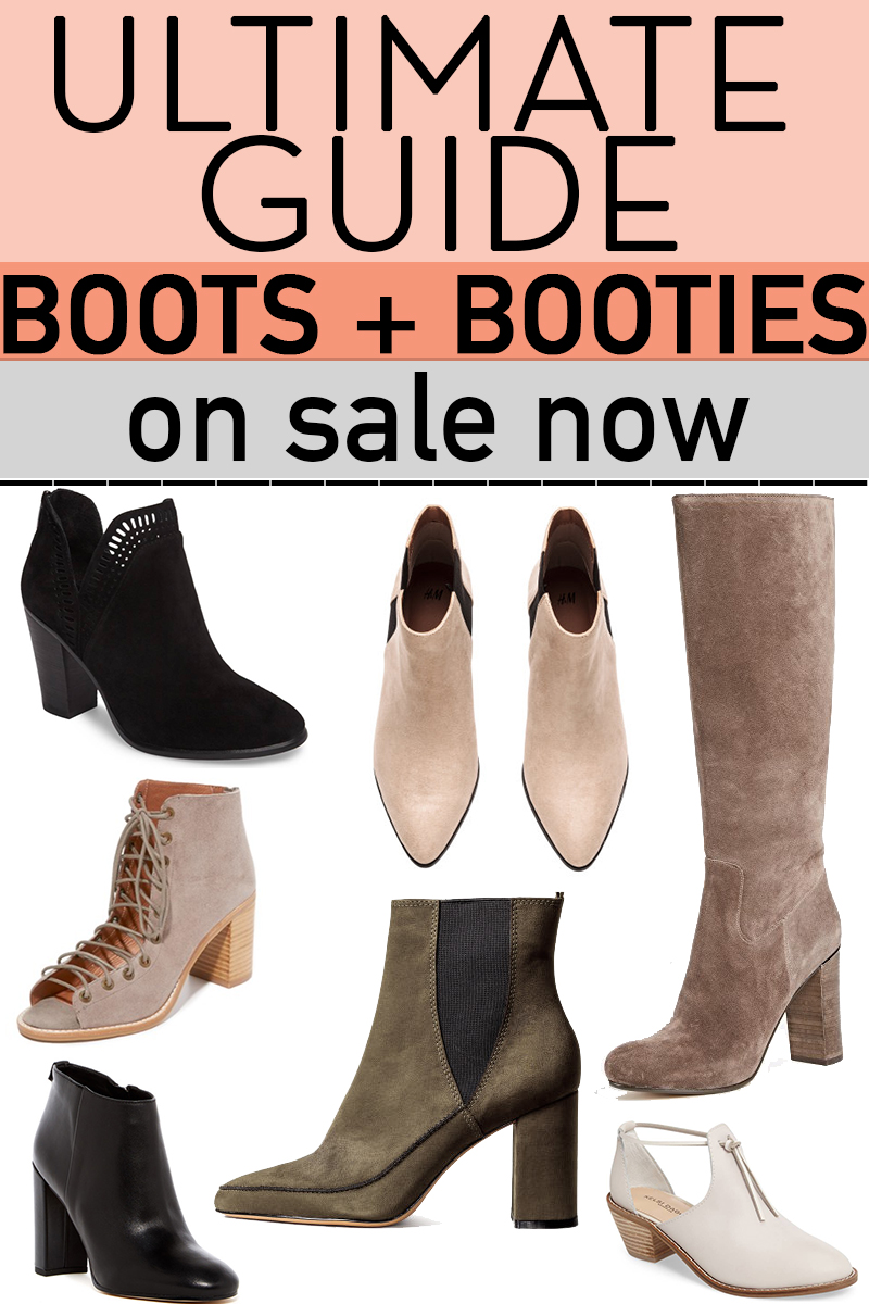 Ultimate Guide to Fall boots and booties on sale now