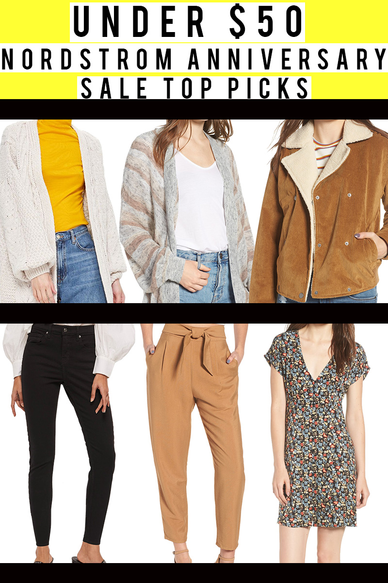 Under $50 Nordstrom Denim, sweaters, basic t-shirt all under $50 at the Nordstrom Anniversary Sale
