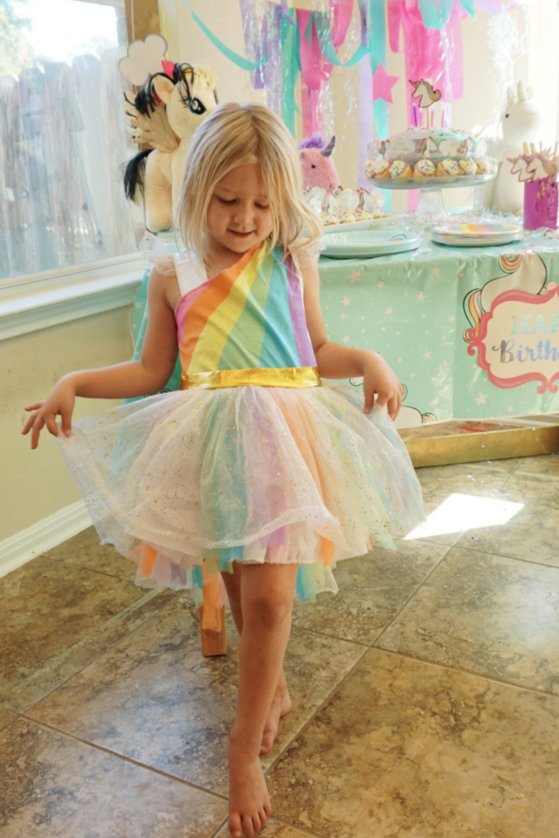 Unicorn themed birthday party for little kids that wont break the bank