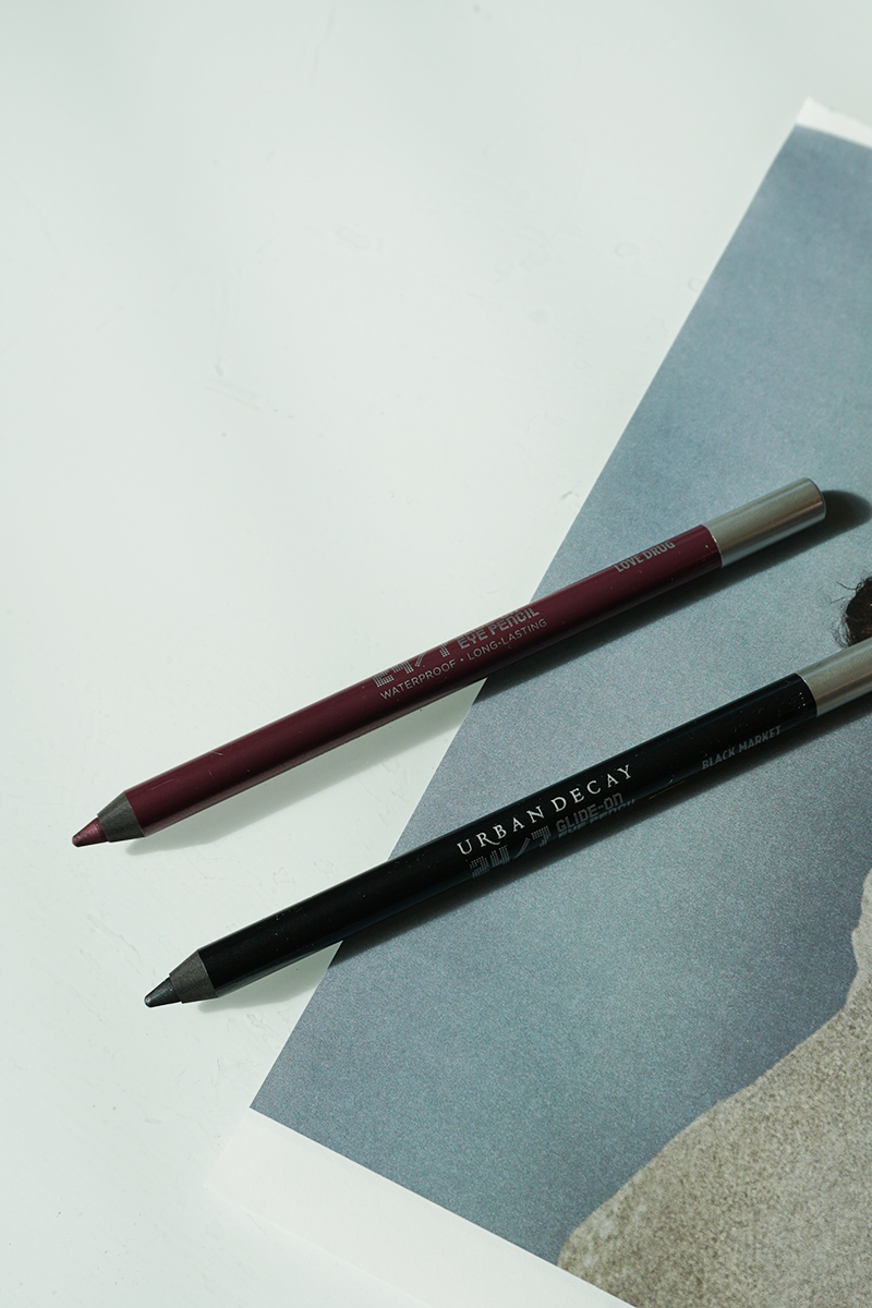 New Urban Decay Naked Cherry Eyeliners in black and cherry