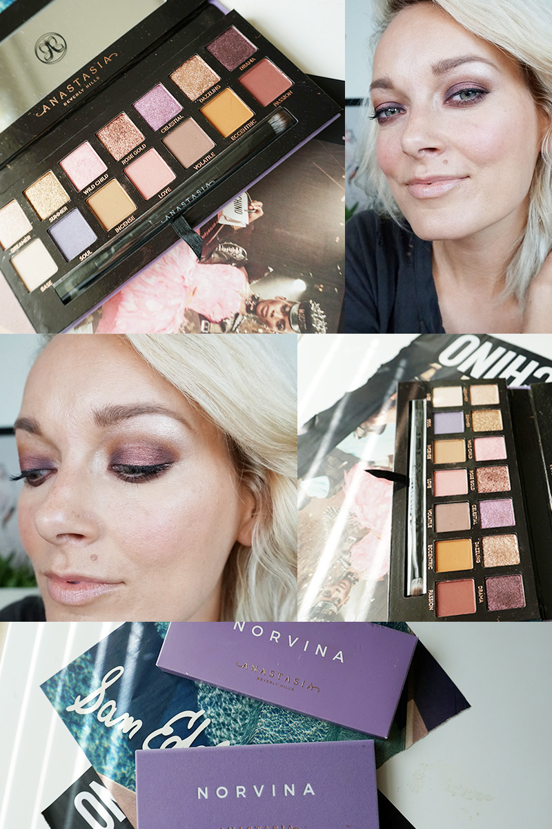 anastasia beverly hills norvina palette review, swatches and makeup look