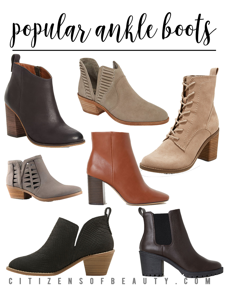 Get these popular ankle boots for fall that come in all different styles. Find them in different price ranges from Nordstrom, Amazon, Target, and more.