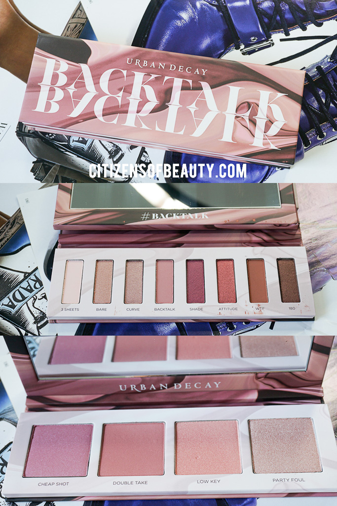 Review of the Backtalk Urban Decau Eyeshadow and Blush Palette.