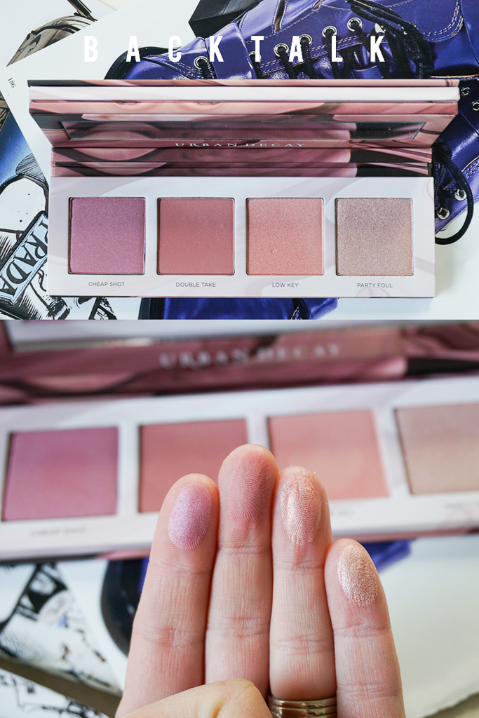 urban decay backtalk blush swatches