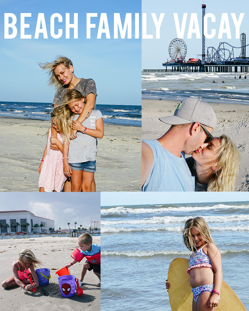 beach family vacation guide in Galveston, TX with travel blogger, Kendra Stanton from Austin, TX