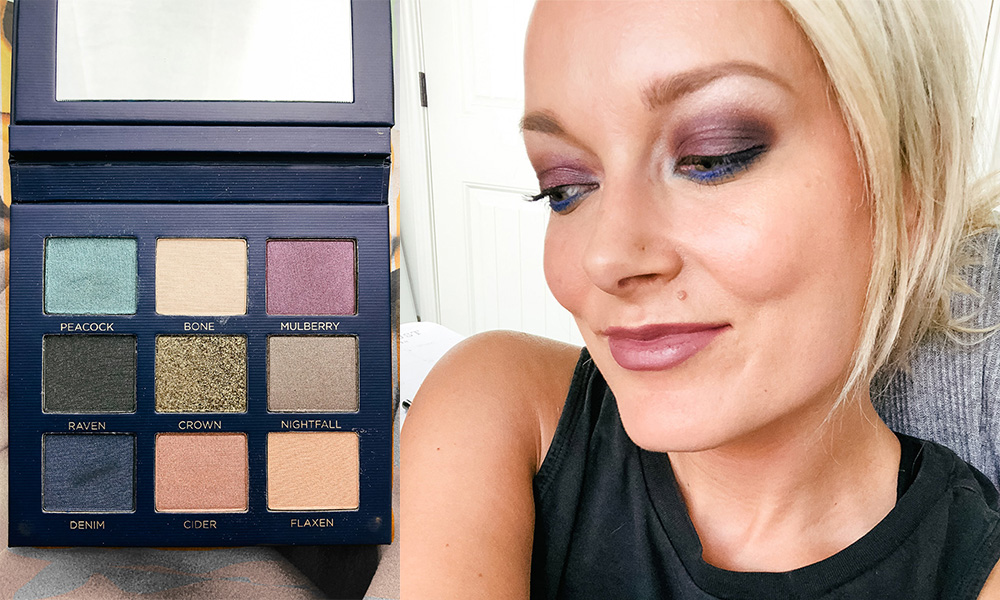 beautycounter eyeshadow palette velvet statement review, swatches and makeup look