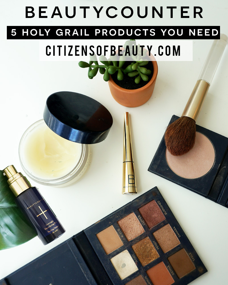 Here are my 5 Beautycounter Holy Grail must have's that I can't live without in both clean makeup and skincare.