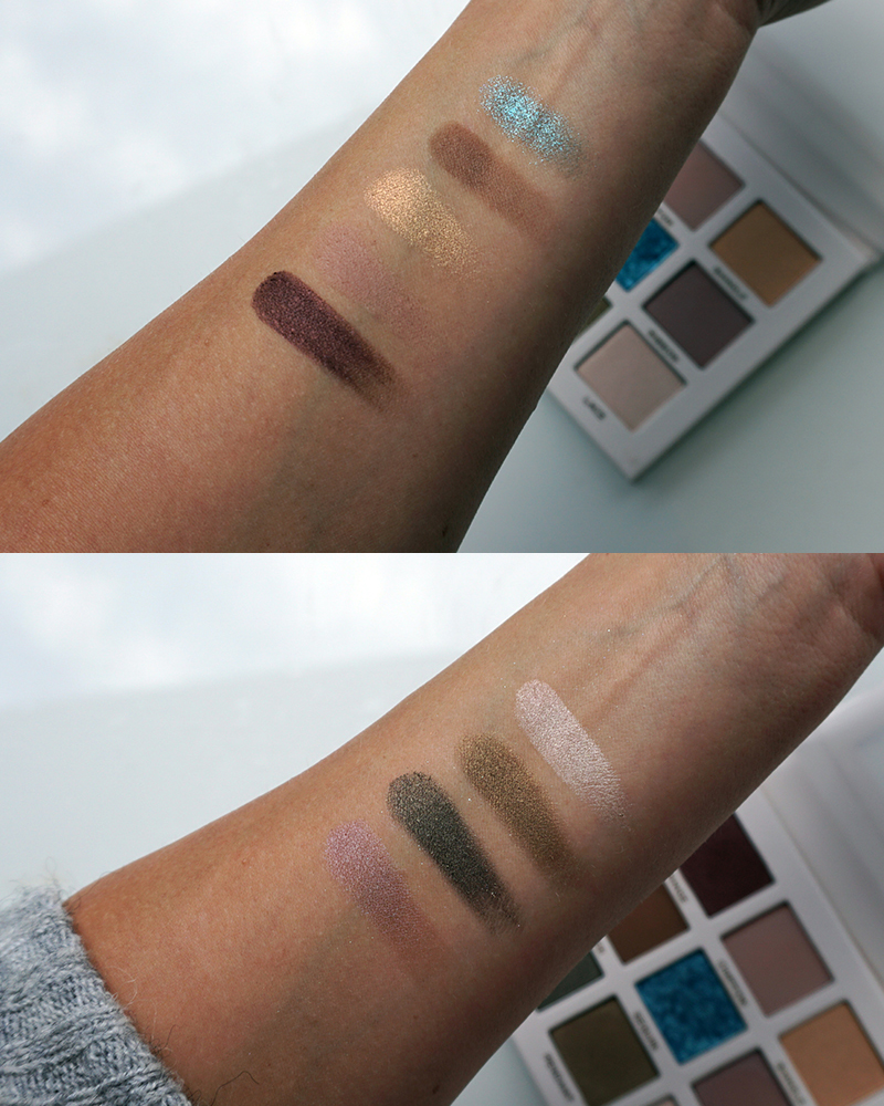Beautycounter iconic eyeshadow palette swatches and review