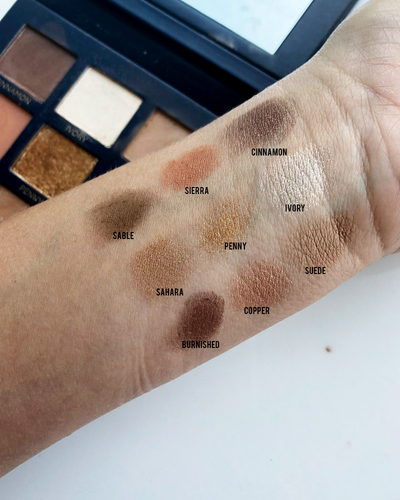 beautycounter velvet classic eyeshadow palette swatches