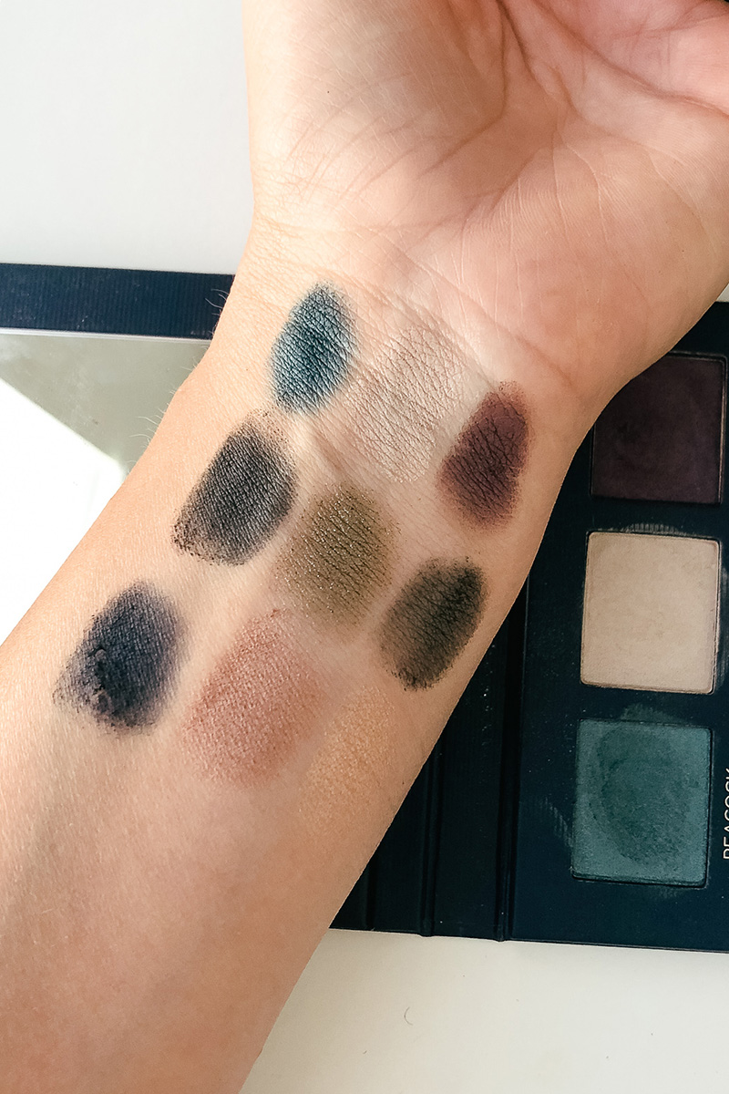 beautycounter velvet eyeshadow palette swatches, review and makeup looks
