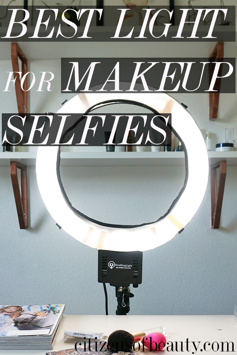 This is the best makeup light I have found for pictures of your makeup selfies.