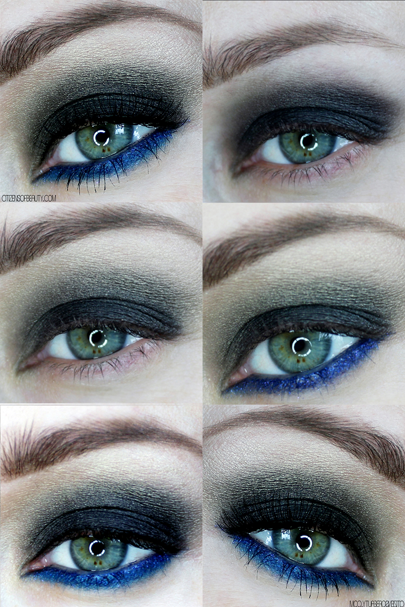 Smoky eyes with a touch of vibrant blue eyeshadow is one of the latest makeup trends for fall. Check out this step-by-step makeup tutorial with makeup and beauty blogger, Kendra Stanton